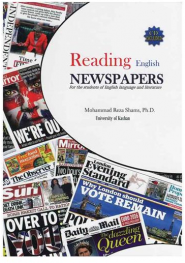 کتاب reading english newspapers
